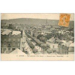 carte postale ancienne 71 AUTUN. Vue générale 1921