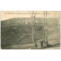 carte postale ancienne 71 BELFAHY. Gamins au premier plan et Village 1911
