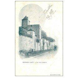 carte postale ancienne 71 BOURBON-LANCY. Jardinier aux Vieux Remparts 1904