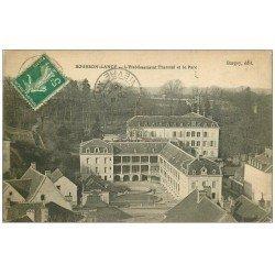carte postale ancienne 71 BOURBON-LANCY. Parc Etablissement Thermal 1916
