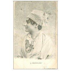 carte postale ancienne 71 BRIONNAISE. Coiffe 1903