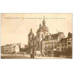 71 CHALON-SUR-SAONE. Hôtel Zinani Place Hôtel de Ville 1929. Diligences, Horlogorie, Boucherie, Pâtisserie...