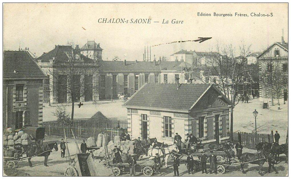 71 chalon sur saone la gare 1916. Black Bedroom Furniture Sets. Home Design Ideas