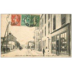 carte postale ancienne 71 CHALON-SUR-SAONE. Mercerie Avenue Boucicaut 1920