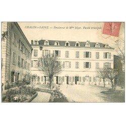 carte postale ancienne 71 CHALON-SUR-SAONE. Pensionnat Jolyet 1907