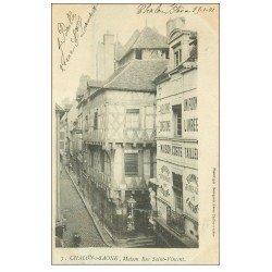 carte postale ancienne 71 CHALON-SUR-SAONE. Tailleur Rue Saint-Vincent 1901