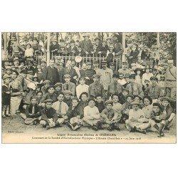 carte postale ancienne 71 CHAROLLES. Concours Entraînement Physique Avenir Charollais 1918. Section Ligue Française