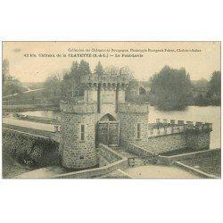 carte postale ancienne 71 CHATEAU DE LA CLAYETTE. Pont-Levis