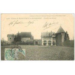 carte postale ancienne 71 CHATEAU DE MARGUERITE DE BOURGOGNE. Couches-les-Mines 1906