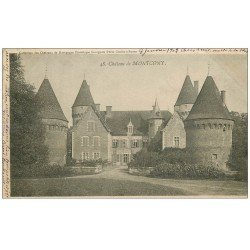 carte postale ancienne 71 CHATEAU DE MONTCONY 1902