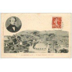 carte postale ancienne 71 LE CREUSOT en 1951. Eugène Schneider 1914