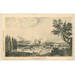 carte postale ancienne 71 LE CREUSOT. En 1782
