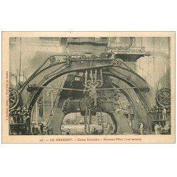 carte postale ancienne 71 LE CREUSOT. Marteau Pilon à vapeur. Usines Schneider