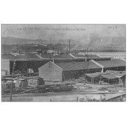 carte postale ancienne 71 LE CREUSOT. Vue générale 1915. Usines Schneider