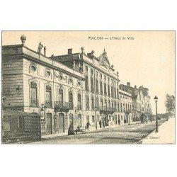 carte postale ancienne 71 MACON. Hôtel de Ville. Carte très fine...