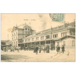 carte postale ancienne 71 MACON. La Gare 1906