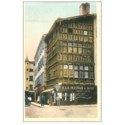 carte postale ancienne 71 MACON. Maison de Bois
