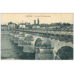 carte postale ancienne 71 MACON. Pont Saint-Laurent 1927