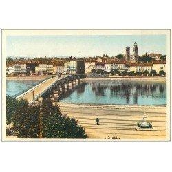 carte postale ancienne 71 MACON. Pont sur la Saône