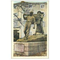 carte postale ancienne 71 MACON. Porteurs de Vendange
