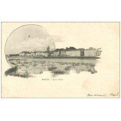 carte postale ancienne 71 MACON. Quai nord 1902