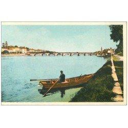 carte postale ancienne 71 MACON. Rameur sur la Saône