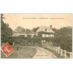carte postale ancienne 14 ANGERVILLE. Cottage de Mesnil-Da 1910