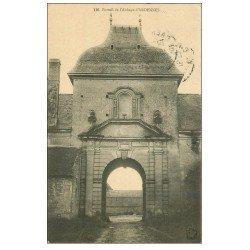 carte postale ancienne 14 ARDENNES. Portail Abbaye 1915