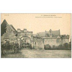 carte postale ancienne 14 ARGOUGES. Attelage livraison de Bois au Château
