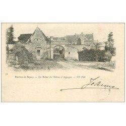 carte postale ancienne 14 ARGOUGES. Ruines du Château 1901