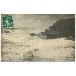 carte postale ancienne 14 ARROMANCHES. Grande Cale jour Grande Marée 1912