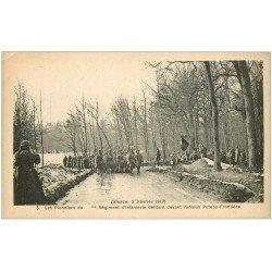 carte postale ancienne 68 ALSACE. Guerre 1914-18. Les Pionniers du... Régiment d'Infanterie Poteau-Frontière... Militaire