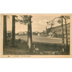 carte postale ancienne 68 AUBURE. Vue du Village 1927