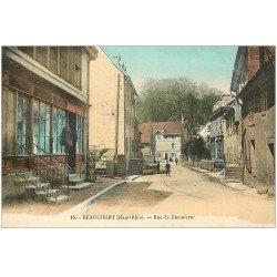 carte postale ancienne 68 BEAUCOURT. Rue de Dampierre