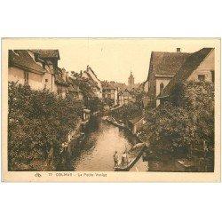 carte postale ancienne 68 COLMAR. La Petite Venise avec barge