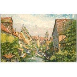 carte postale ancienne 68 COLMAR. La Petite Venise par Felt ou Feld...