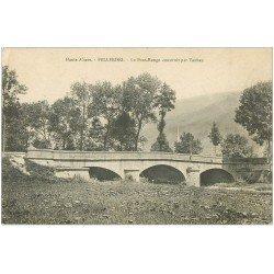 carte postale ancienne 68 FELLERING. Le Pont-Rouge 1917 construit par Vauban