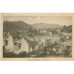 carte postale ancienne 68 GOLDBACH. Attelage au Village détruit