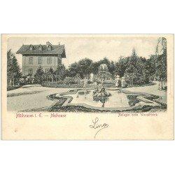 carte postale ancienne 68 MULHOUSE. Anlagen beim Wasserwerk. Timbre absent