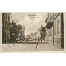 carte postale ancienne 68 MULHOUSE. Colmarer Strasse. Rue Colmar 1921
