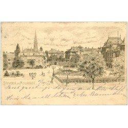 carte postale ancienne 68 MULHOUSE. Entrée de la Ville 1905