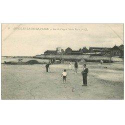 carte postale ancienne 14 ASNELLES-LA-BELLE-PLAGE. Jeu de Croquet sur la Plage