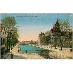 carte postale ancienne 68 MULHOUSE. Hauptpost Kanal 1919