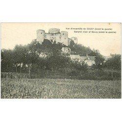 carte postale ancienne 02 COUCY-LE-CHATEAU. Vue prise avant la Guerre