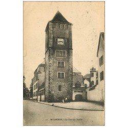 carte postale ancienne 68 MULHOUSE. La Tour du Diable 1924