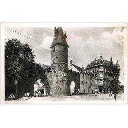 carte postale ancienne 68 MULHOUSE. La Tour Salvator. Carte Real Photo