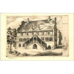 carte postale ancienne 68 MULHOUSE. L'Hôtel de Ville par Poney ou Doney