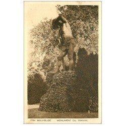 carte postale ancienne 68 MULHOUSE. Monument du Travail
