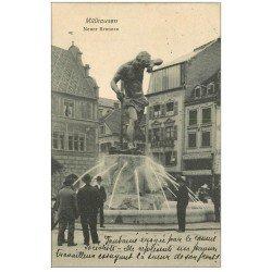 carte postale ancienne 68 MULHOUSE. Neuer Brunnen 1906 La Fontaine