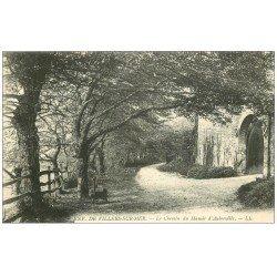 carte postale ancienne 14 AUBERVILLE. Chemin du Manoir